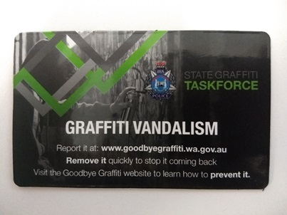 Picture of Graffiti Vandalism Magnet - Black, green and grey